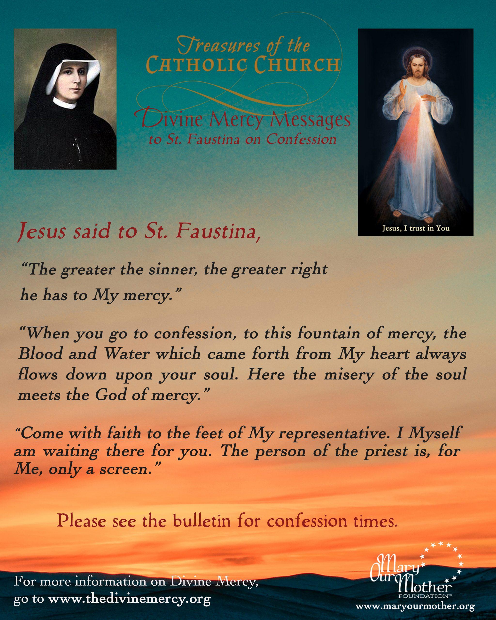 Divine Mercy Confession Phone Image